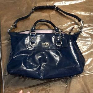 942f3f313c3e Coach Blue Patent Leather Purse